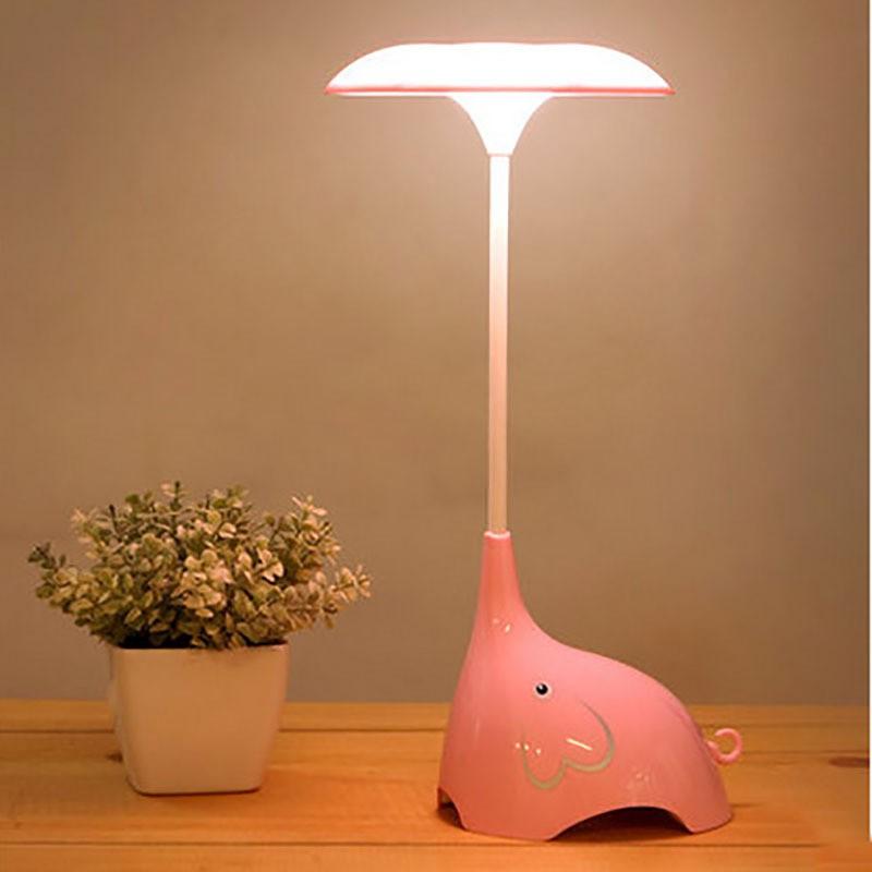 臥室卡通小檯燈觸碰開關三擋調光LED 小夜燈USB 充電