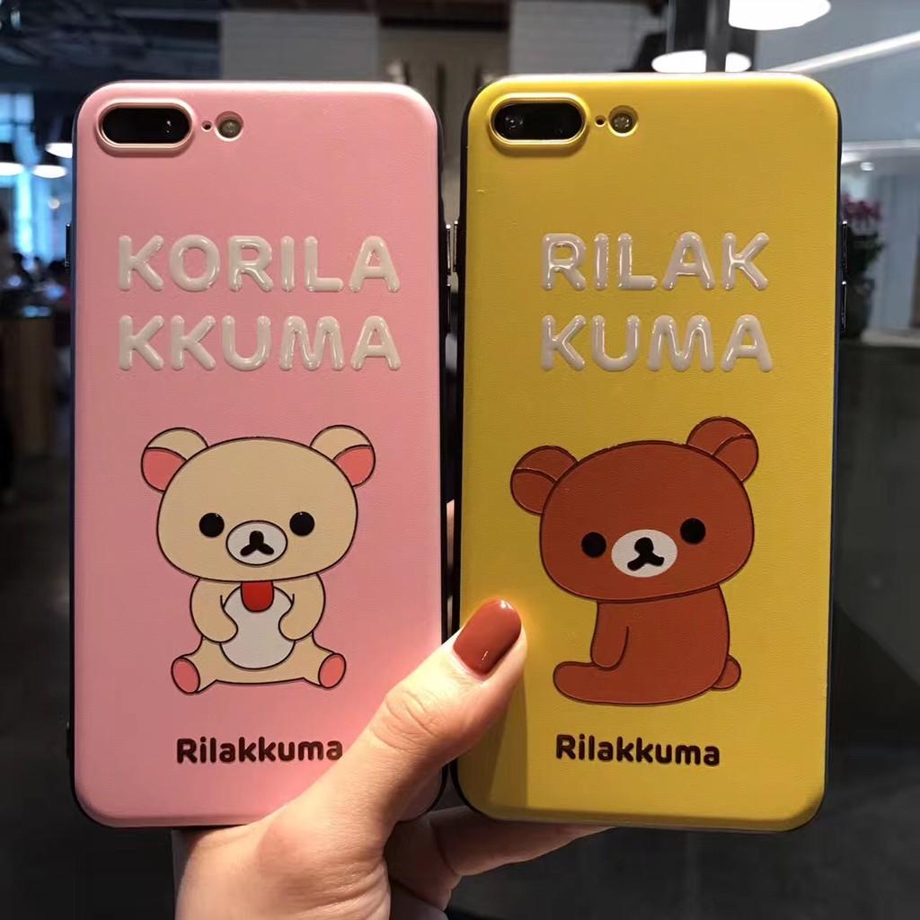 oppo r11 拉拉熊r9s 浮雕手機殼情侶卡通r9 保護殼iphone6 軟邊全包ip