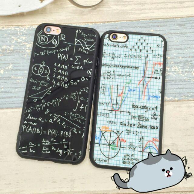 送i 線套✨送掛繩數學函數幾何圖案數學符號iPhone 手機殼i6 I6s I6 plus