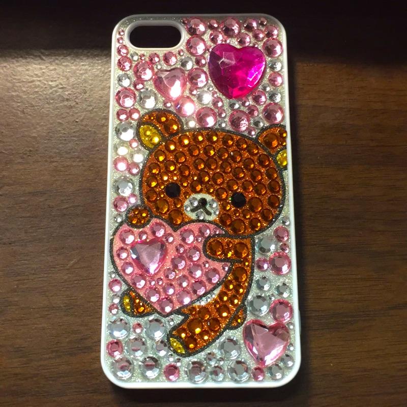iPhone5 5s Rilakkuma 懶懶熊懶熊拉拉熊手機殼硬殼水鑽殼水鑽閃殼