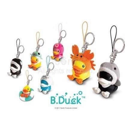 正品B DUCK 黃色小鴨 鑰匙圈吊飾10 種 鴨子海豚猴子龍蝦章魚青蛙兔子海豹 ❤生日