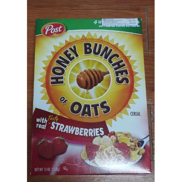 ~POST 麥片蜂蜜燕麥草莓香蕉堅果脆麥果小紅莓杏仁脆麥果穀類麥果胡桃蜂蜜燕麥杏仁藍莓脆麥