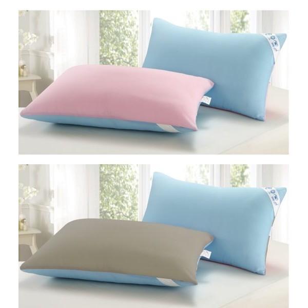 ~精靈工廠~吸濕排汗專利超細纖維防蹣抑菌雙色枕1 入4 色