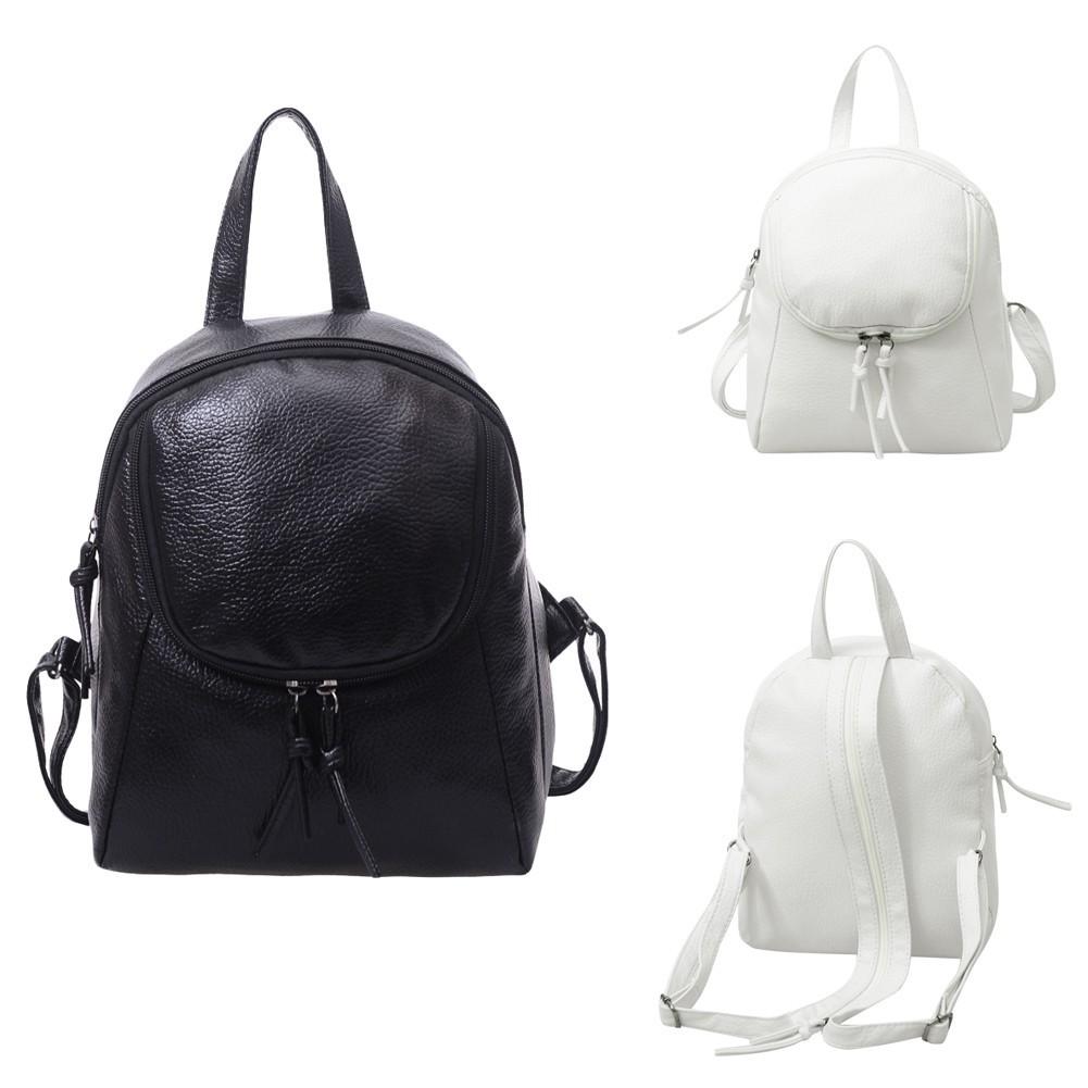 Baggra 女包 背包PU 皮可調節拉鏈背帶多 簡約學生書包旅行包雙肩包