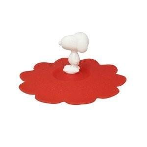 SNOOPY 史努比矽膠立體 杯蓋紅