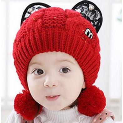 瀅瀅小舖BH4214 保暖嬰幼兒帽加絨寶寶帽子毛線帽