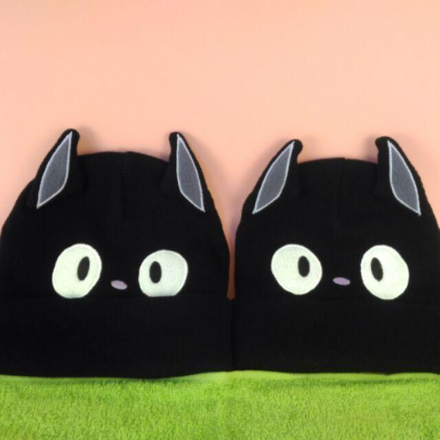 兩頂超可愛黑貓親子帽大小 針織帽