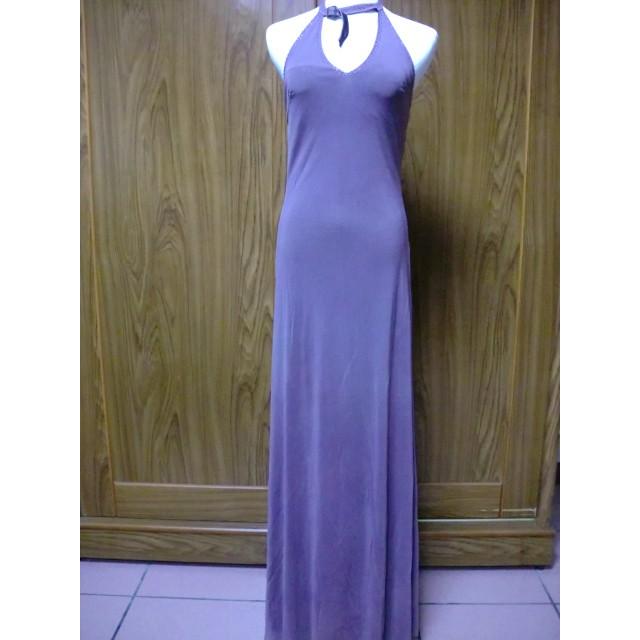W007 紫色露背長禮服牧牧小舖 衣