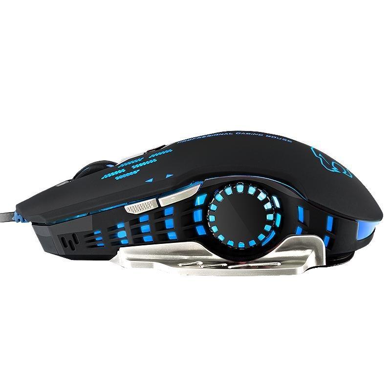 潮流一族宅配賽德斯閃翼lol 電競有線鼠標USB 電腦機械加重游戲大鼠標宏滑鼠墊電競青軸黑