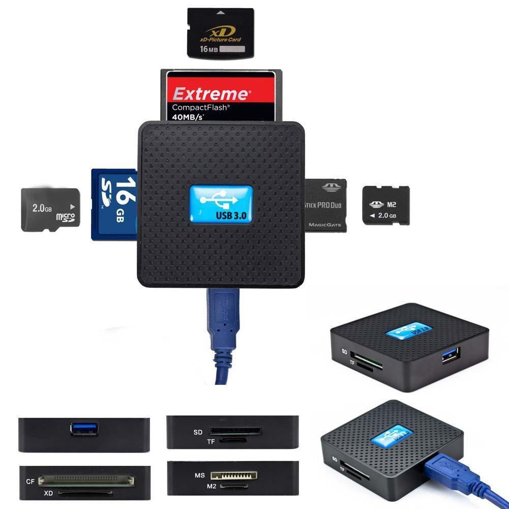 1 USB 3 0 多存儲卡讀卡器高速微型SD TF CF XD M2 MS F0502