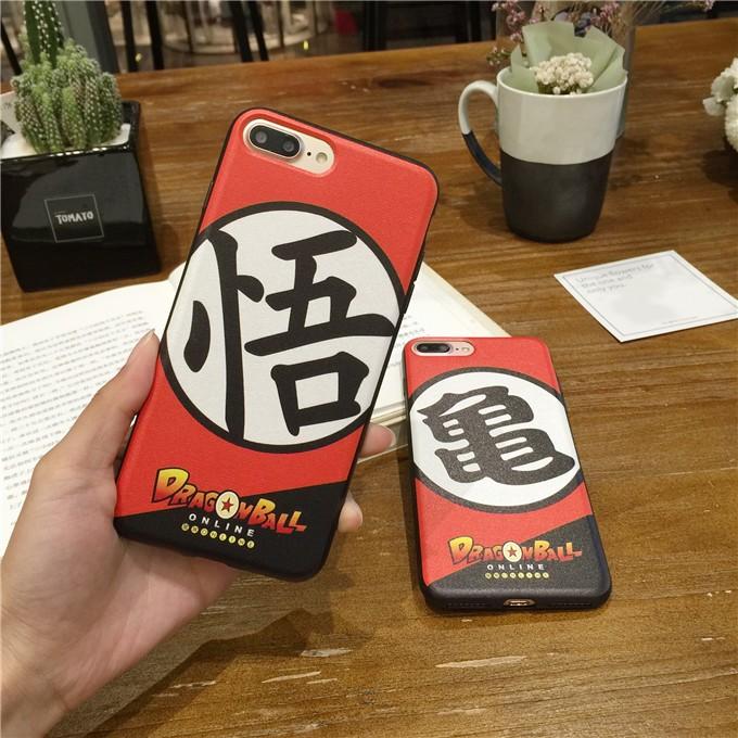 蠶絲龍珠悟空龜仙人iphone7 手機殼全包蘋果6s plus 軟殼 潮男女