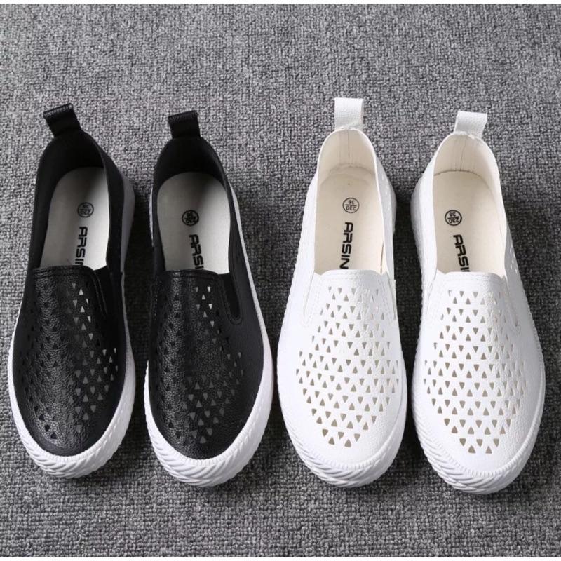 款❤️懶人鞋休閒鞋小白鞋平底鞋樂福鞋舒適鏤空透氣不咬腳夏日 單品