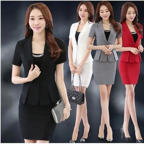 女士職業裝 白領工作服套裝商務裝長袖OL 修身西裝女裙套裝