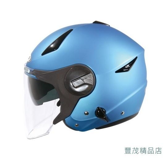 ZEUS 瑞獅ZS 612A 素色3 4 罩半罩安全帽消光藍~豐茂機車材料 店~