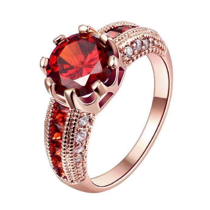 K 金鋯石奢華女皇高貴女士戒指