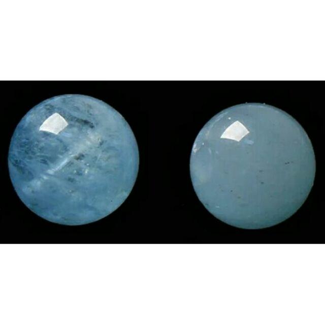 天使工坊6A 天然冰體海藍寶石圓珠 diy  尾鍊項鍊純銀手鍊蠟線客製