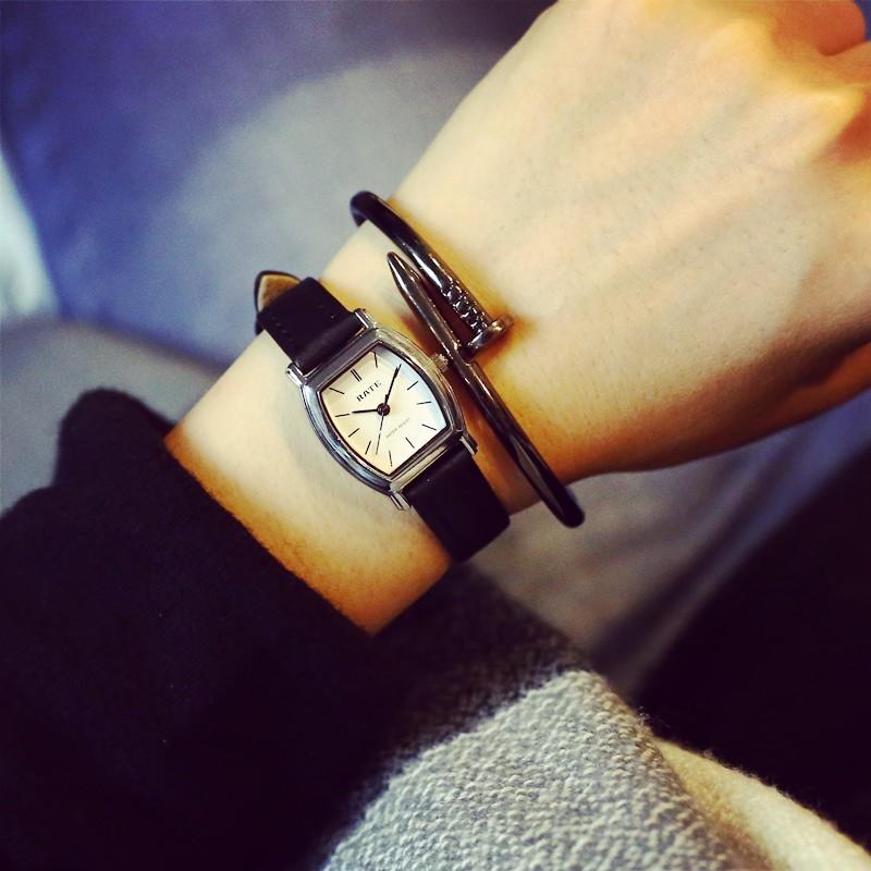 女士手錶防水 款真皮小清新文藝小錶盤迷你 女生學生簡約潮
