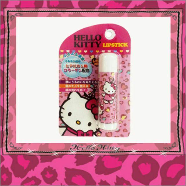 ( )SANTAN KITTY 豹紋保濕護唇膏檸檬香味