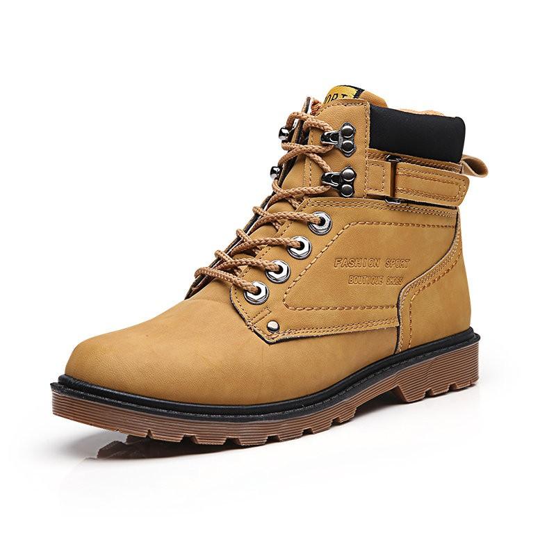 秋 馬丁靴男英倫潮鞋 短靴男士高幫鞋復古大頭工裝靴男靴子