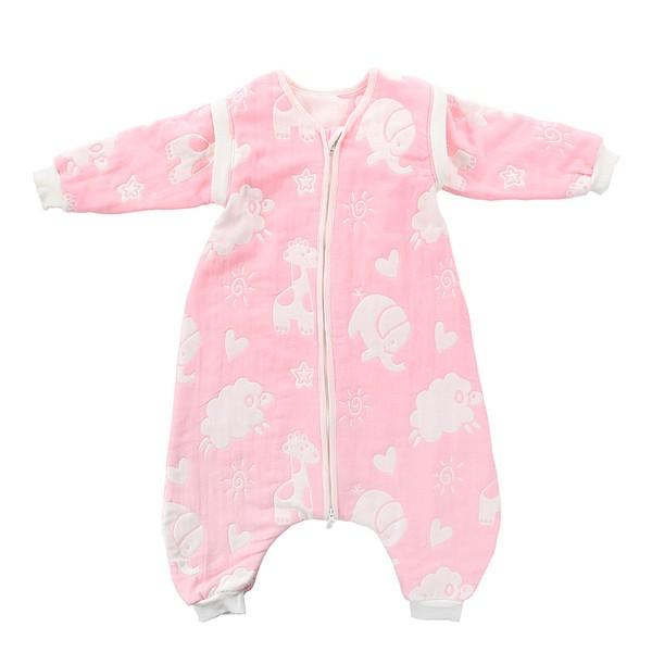 綿羊純棉六層紗布蘑菇寶寶兒童睡袋嬰兒背心分腿式春夏秋四季款防踢被