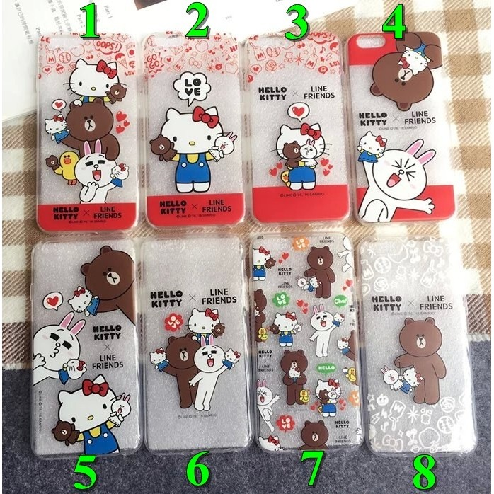 Iphone6 6s plus Hello kitty Line 熊大兔兔矽膠軟殼手機殼手