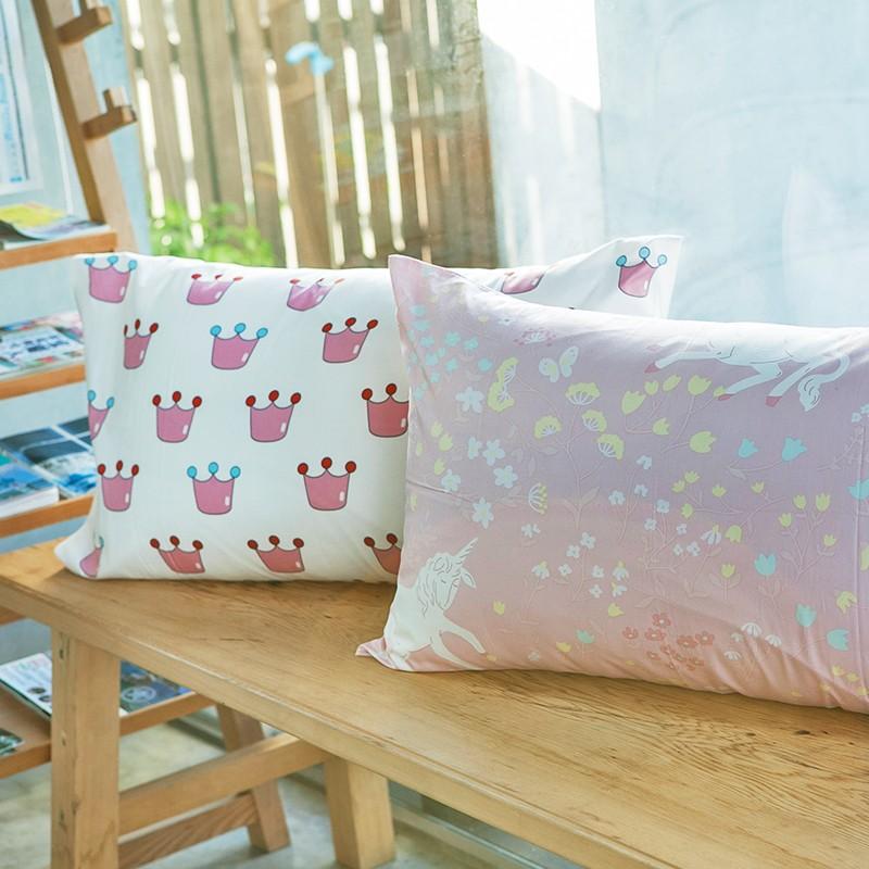枕套枕頭套~尋找夢奇地四款~美式信封枕套一入,100 精梳棉,奇妙童話時光,戀家小舖 製