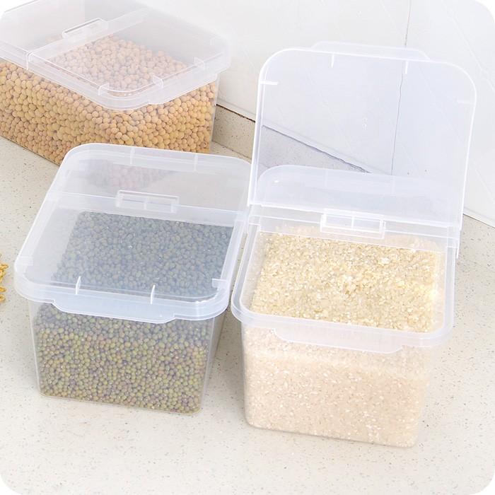 满260 元出货~ 價 ~廚房防潮防蟲米桶4KG 塑料儲米箱裝大米糧食收納箱帶蓋米缸面粉桶