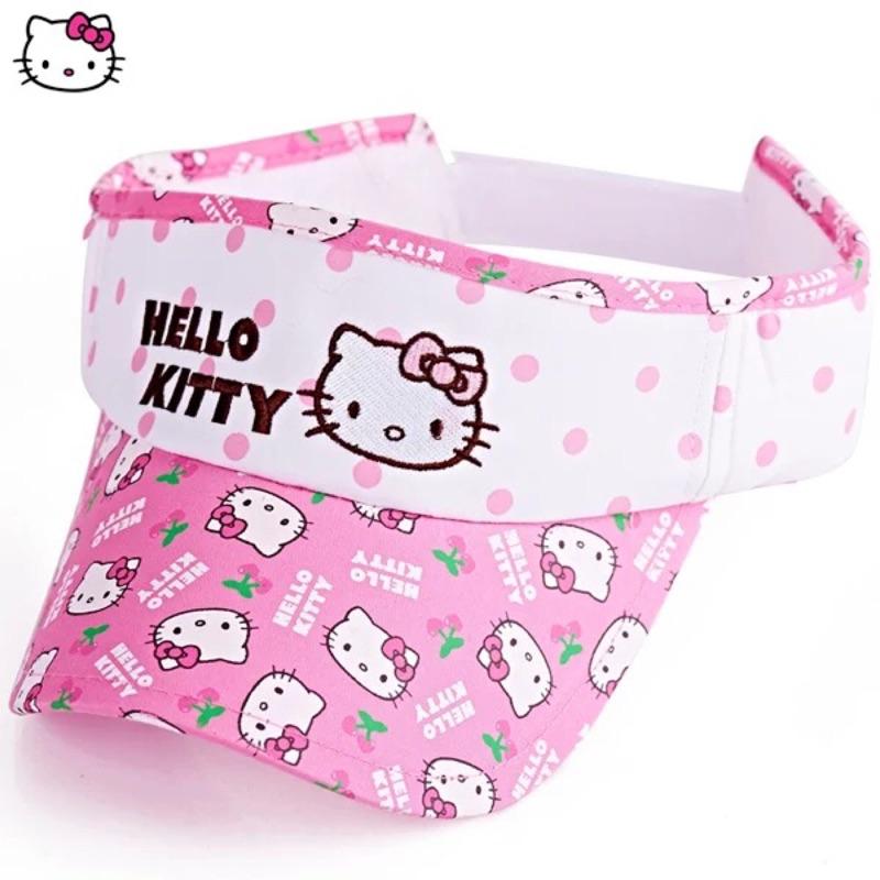 正品Hello Kitty 凱蒂貓兒童空頂帽棒球帽女童網太陽帽