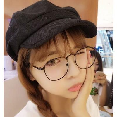 韓國文藝亞麻布八角帽子男女 貝雷帽復古光身畫家帽報童帽子