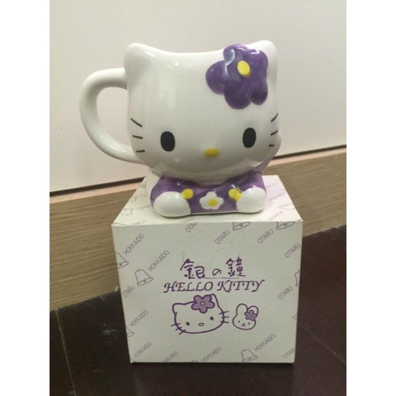Hello kitty 北海道小樽限定版咖啡杯擺飾
