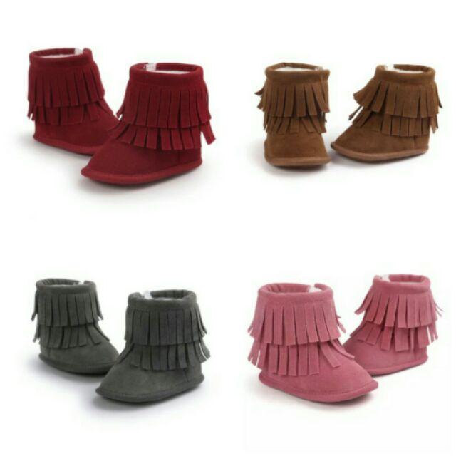 新年特惠[部分 ] 款女寶雪靴軟底防滑學步鞋