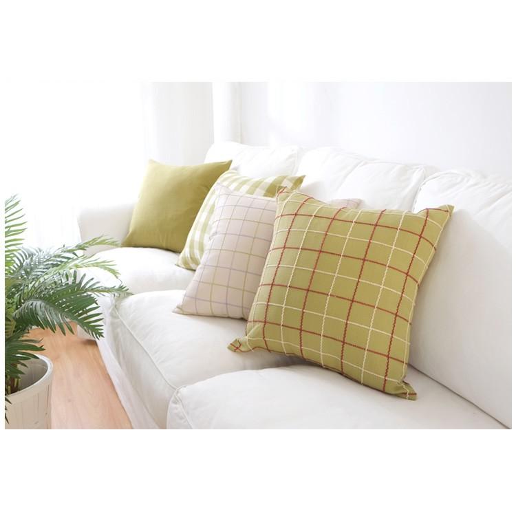 ZAKKA 家居45 45cm 棉麻布料格紋系列款四款抱枕套靠墊不含枕心