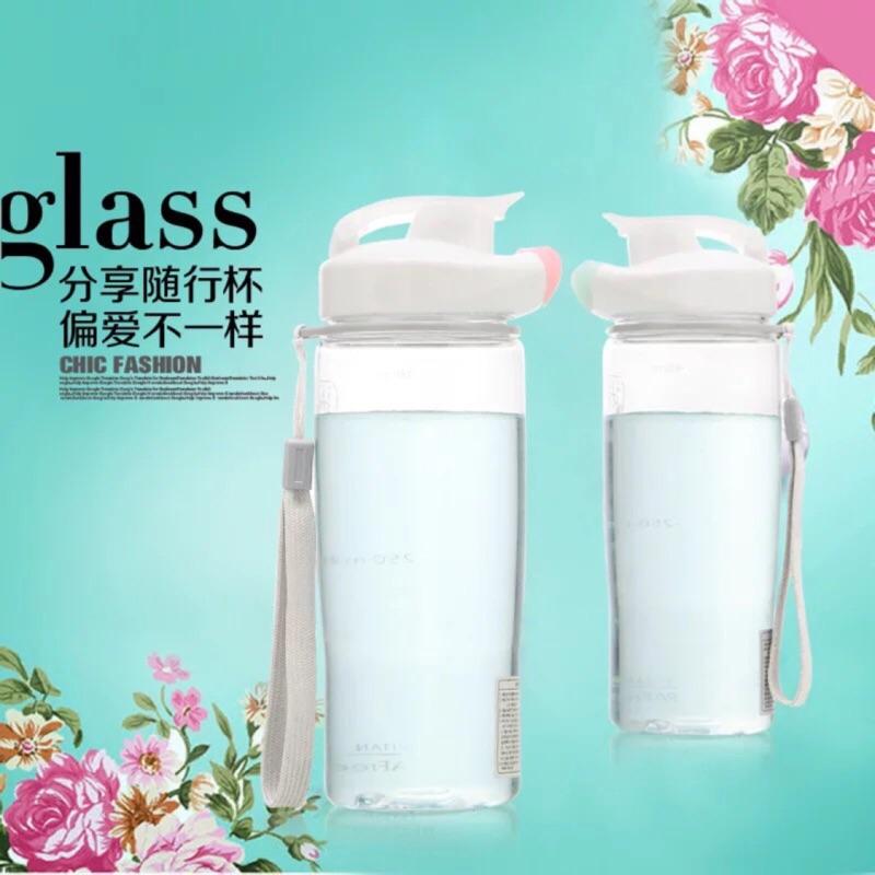 韓國ESLOE 分享杯子塑料杯隨手杯男女士學生兒童透明 水