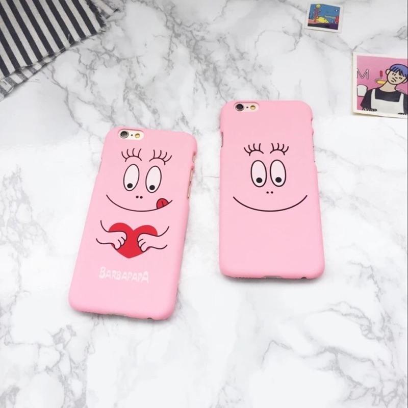 韓國Barbapapa 巴巴爸爸蘋果6s 手機殼iPhone6 保護套5s 情侶磨砂硬殼