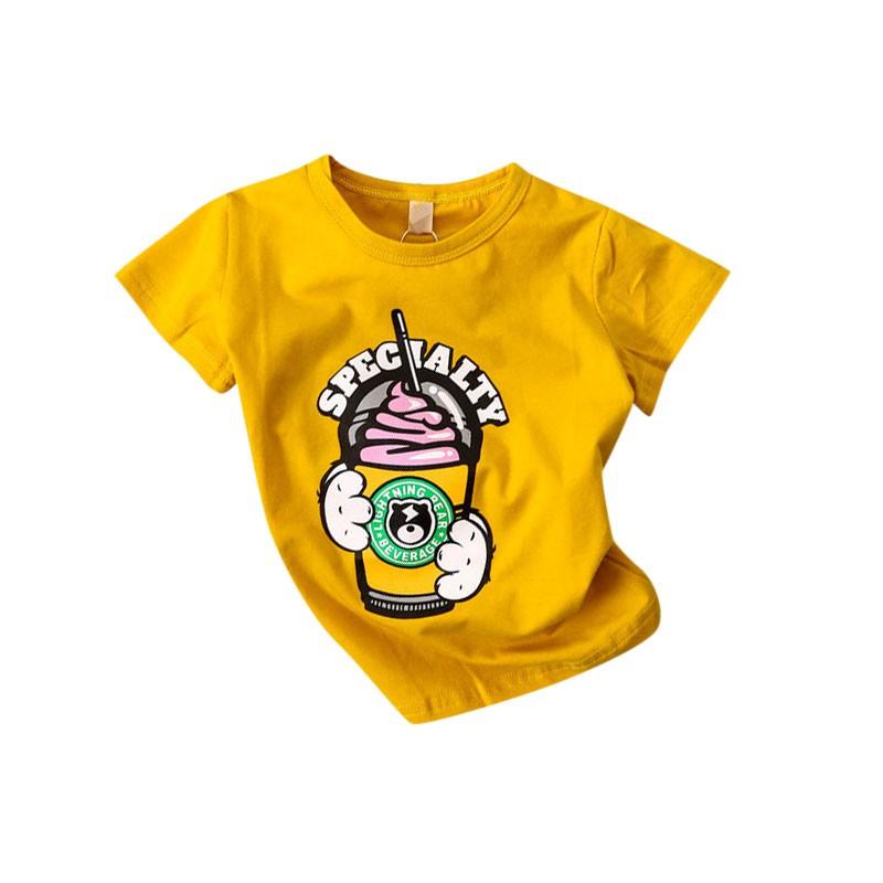 2017  卡通霜淇淋印花純棉短袖上衣兒童T 恤