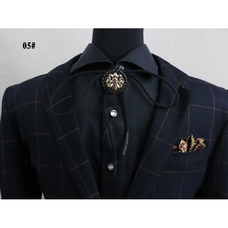 日韓潮男襯衫項鏈配飾長毛衣鏈吊墜波洛領繩掛件髮型師 夜店