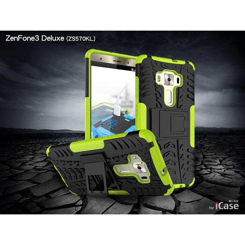 iCase ZenFone3 Deluxe ZS570KL 手機支架保護殼防摔TUP PC