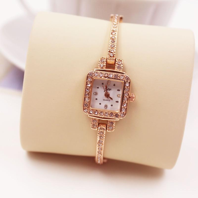 AC 潮流 秀氣小巧方形手鐲表女士學生手鏈手表鋼帶時裝石英表