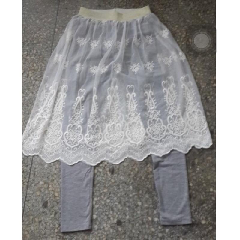 超淑女蕾絲內搭褲裙