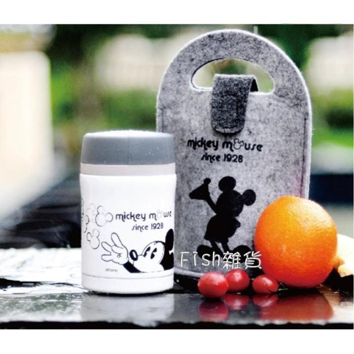 Disney Mickey 米奇黑白 提袋悶燒杯~容量450ml ~