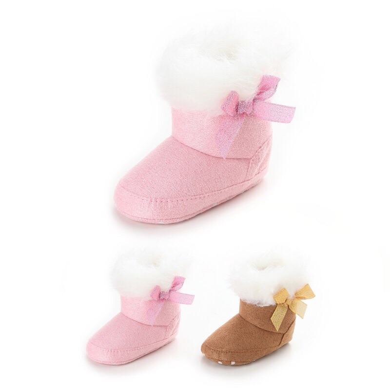 曈曈Baby  甜美風格嬰兒雪靴外貿冬天學步靴子嬰兒軟底鞋嬰兒鞋