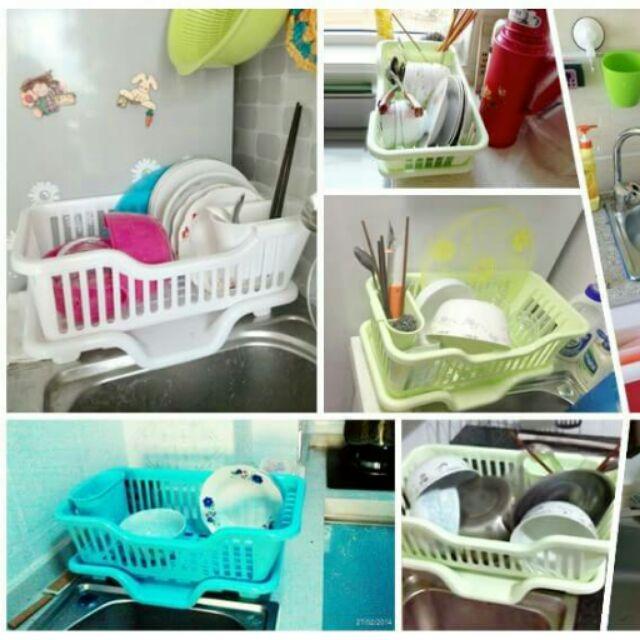 J114G200 n 廚房塑料碗碟架瀝水架置物架碗櫃碗筷架子收納盒水槽瀝碗架