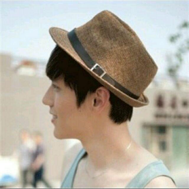 潮遮陽帽英倫風夏天女帽子男士草帽禮帽爵士帽情侣沙灘帽紳士帽男女皆可