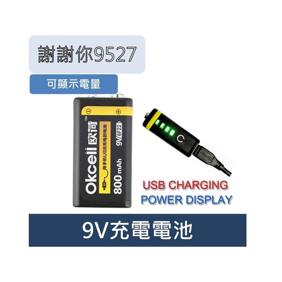 9V 充電電池可充電9V 電池充電大容量800mA