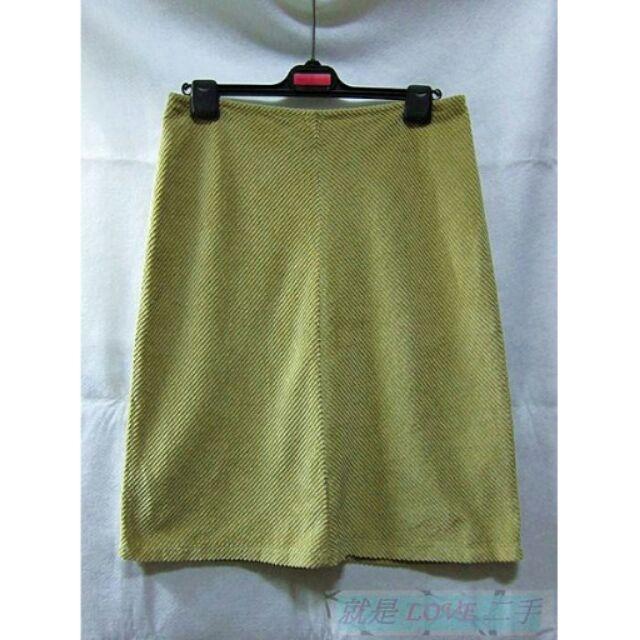 就是愛 SISLEY 義大利品牌簡約素面駝色及膝裙絨布裙專櫃購入