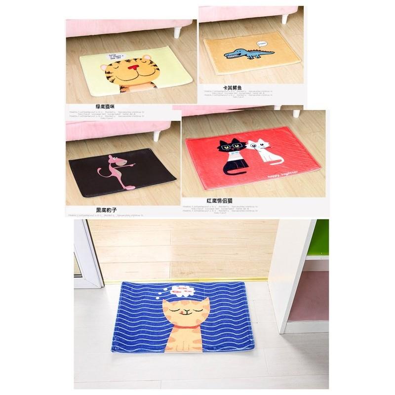 SAFEBET 卡通可愛動物絨面吸水防滑地墊腳墊廚房浴室衛生間防滑墊
