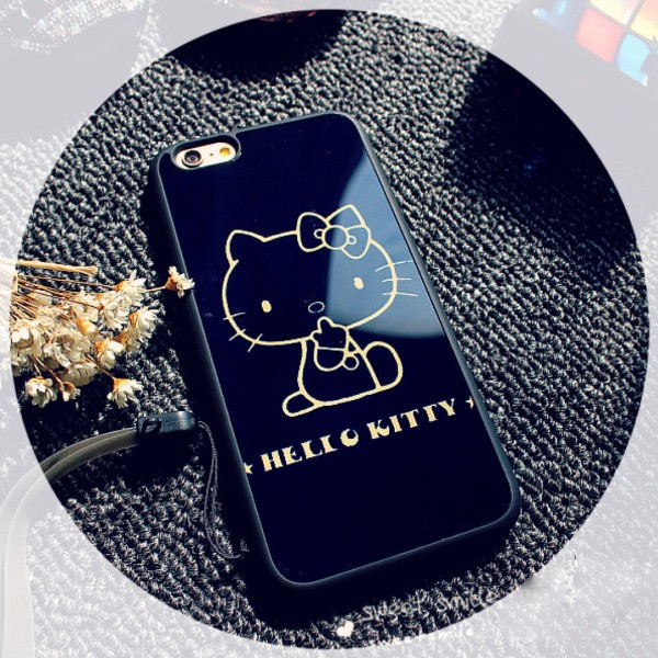 ~送i 線套~✨送掛繩iPhone 6 i6s i6 plus kitty 貓手機殼kt