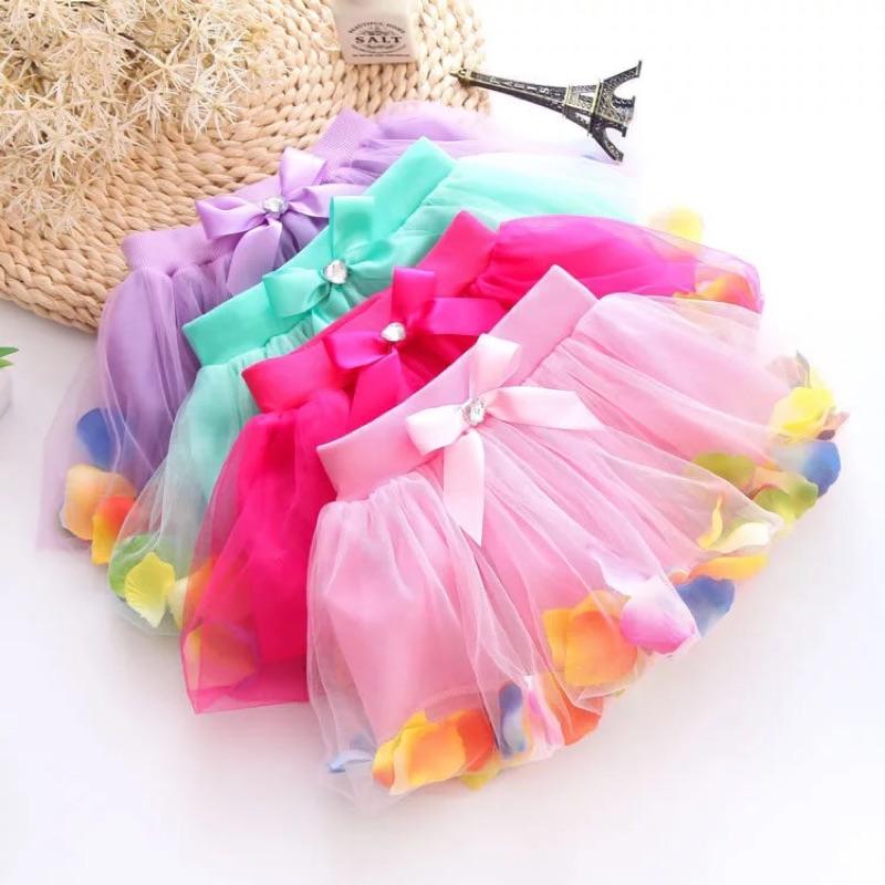 ( )蝴蝶結彩色花瓣短裙