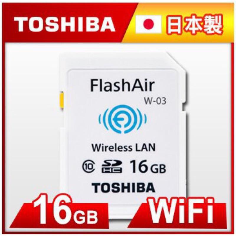 Toshiba FlashAir III Class10 SDHC 16GB 記憶卡