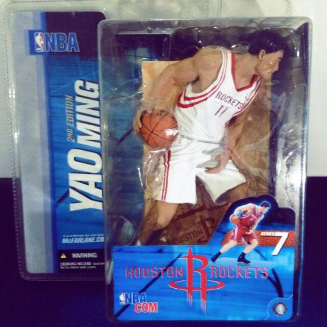 麥法蘭NBA 5代休士頓火箭隊YAO MING 姚明白衣變體版